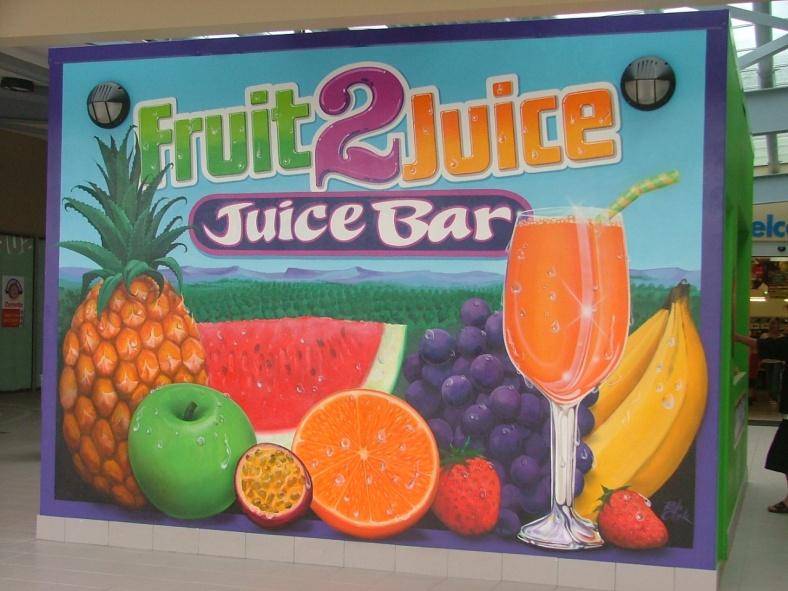 Fruit to Juice bar at Centro Shopping centre Bundaberg